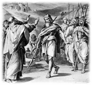 [בתמונה: אברהם המנצח פוגש את מלך סדום... התמונה היא צילום מסך]