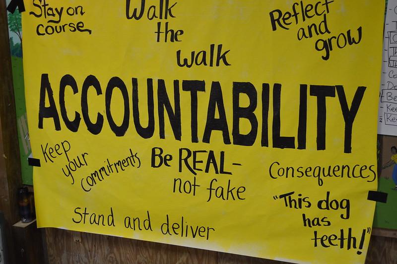 [בכרזה: אחריותיות - Accountability. תמונה חופשית לשימוש ברמה CC BY 2.0,שהועלתה על ידי United Workers לאתר flickr]