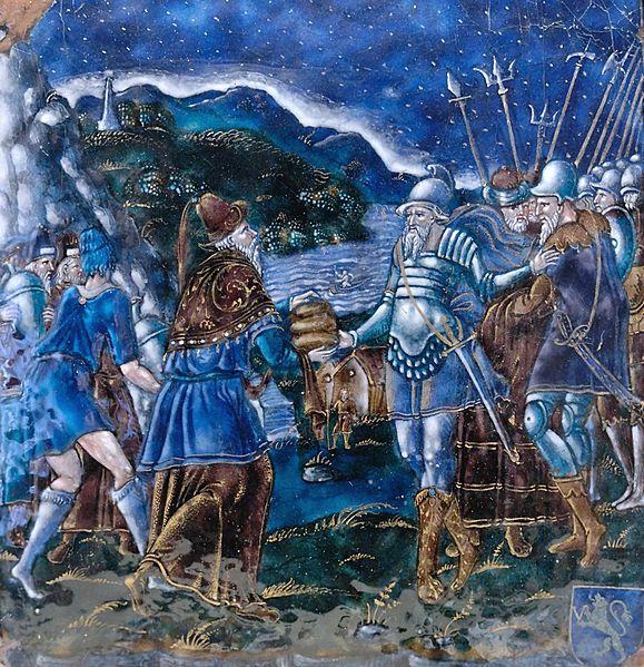 [בתמונה: מלכיצדק מברך את אברהם לאחר הקרב, בלחם וביין. התמונה היא נחלת הכלל]