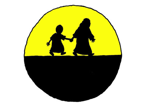[בתמונה: גירוש הגר וישמעאל. תמונה חינמית מאתר: free bible images]