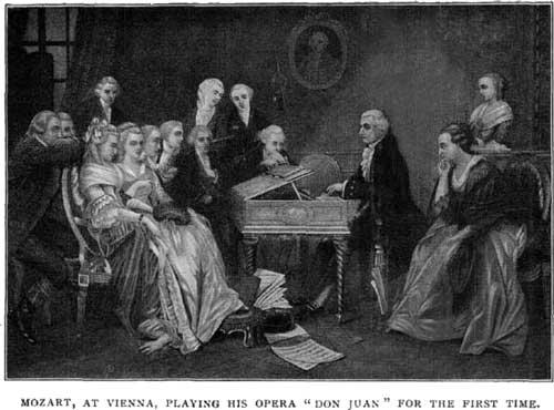 [בתמונה: מוצרט מציג לראשונה את דון ג'ובאני בווינה. התמונה היא נחלת הכלל]