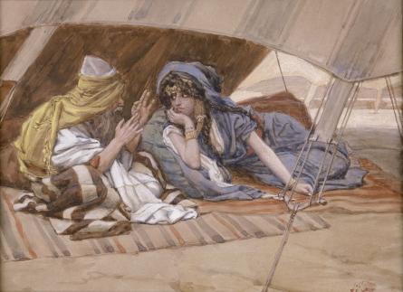 [בתמונה: אברהם ושרי. ג'יימס טיסו, 1896–1902, צבעי מים. התמונה היא נחלת הכלל]