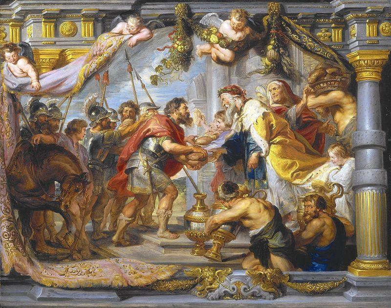 [בתמונה: פגישת אברהם ומלכיצדק. פול רובינס 1625. התמונה היא נחלת הכלל]