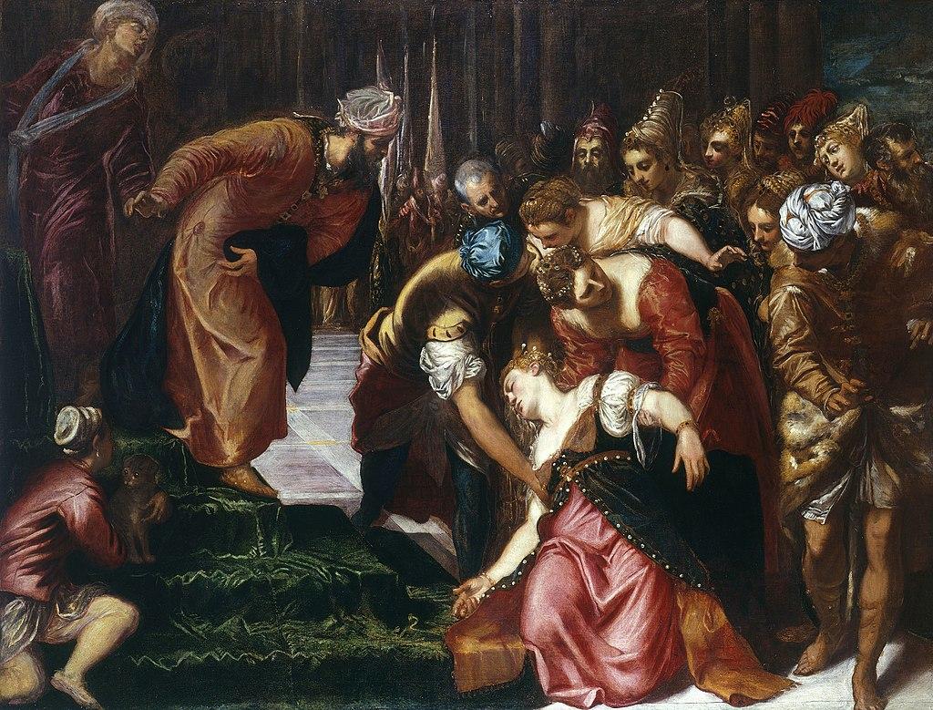 אסתר נופלת לפני אחשוורוש - ייצור ידע